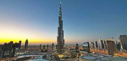 Burj Khalifa the tallest building in the world, Dubai Downtown cityscape