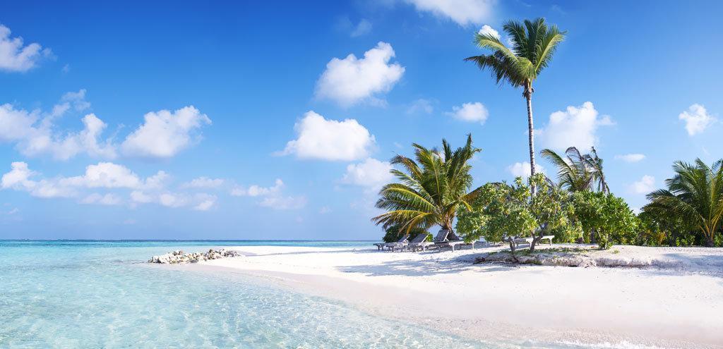 A beautiful, unspoilt beach in the Maldives