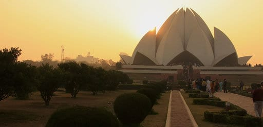 PMGY Volunteer Weekend trips in India at the Lotus Temple in Delhi during their Volunteer work in India