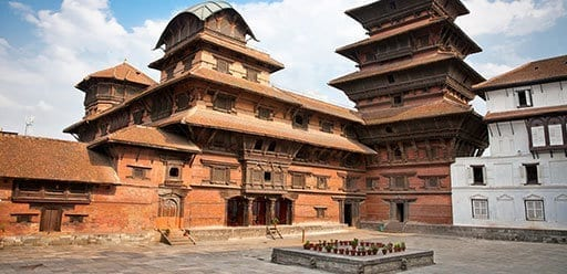 Inside of Hanuman Dhoka, old Royal Palace, Durbar Square in Kathmandu, Nepal