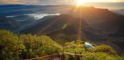 PMGY Volunteer Weekend trips in Sri Lanka hiking the sacred Mountain Adam's Peak for sunrise during their Volunteer work in Sri Lanka