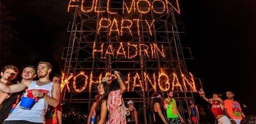 Revellers at Koh Phangan's world famous full moon party