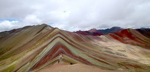 PMGY Volunteer Weekend trips in Peru hiking Rainbow Mountain during their Volunteer work in Peru