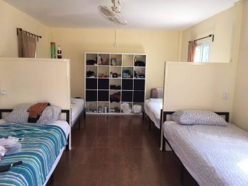 Shared bedrooms and cupboard space during a Volunteer abroad Program as a PMGY Elephant Volunteer in Thailand