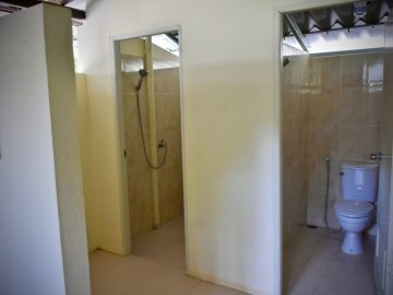 Shared bathroom and shower during a Volunteer abroad Program as a PMGY Elephant Volunteer in Thailand
