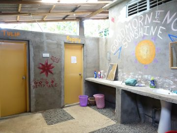 PMGY Volunteer bathroom area in the Volunteer House for an Elephant Volunteer in Sri Lanka, based near Wasgamuwa National Park