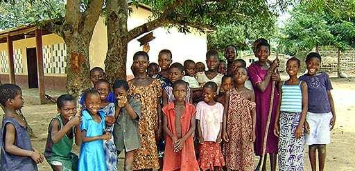 PMGY volunteer in Ghana visiting a traditional village during their volunteer weekend trips in Ghana