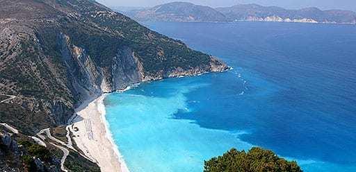 PMGY volunteer in Greece relax at Myrtos beach on their volunteer weekend trips in Greece
