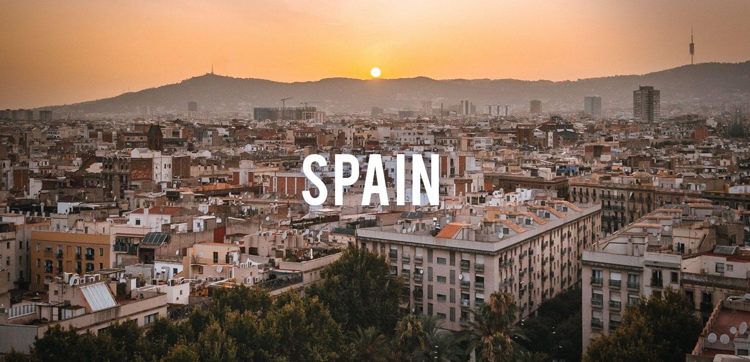 PMGY volunteer enjoying sunset views across the city of Barcelona during the volunteer abroad program
