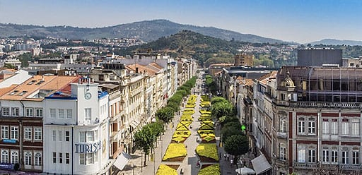 PMGY volunteer exploring the authentic city of Braga during their volunteer abroad program