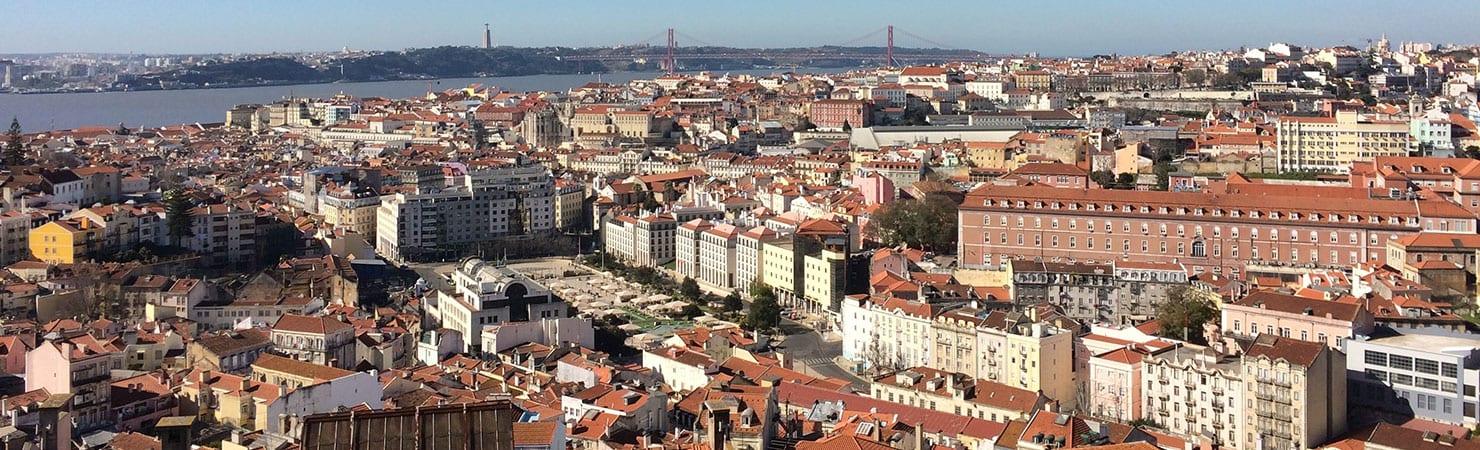PMGY volunteer enjoying the panoramic views of Lisbon during their volunteer work in Portugal
