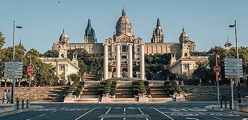 PMGY volunteer in Spain appreciating culture at Barcelona's national musuem of art