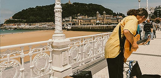 PMGY volunteer enjoying the golden beaches and lush hillsides of San Sebastian