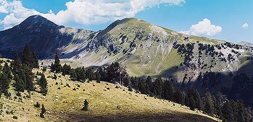 Volunteer enjoying hiking weekend trip to the Pyrenees during volunteer abroad program