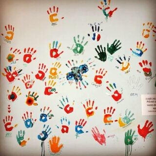Last one! Volunteer handprints :) #cambodia #takeo #volunteer #originalvolunteers #hopeagency #handprints #school #wall #paint #colour #travel #backpacking #adventure #instatravel #memories #summer #takemeback #missit #leaveyourmark