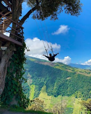On top of the world in Baños! Ecuador is an absolute dream 😍⁠ ⁠ #pmgy #pmgyecuador #pmgyweekends
