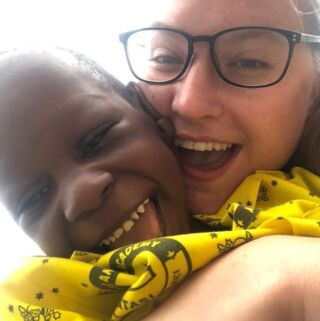 """The kids were so lovely and the sweetest kids i have ever met, we was able to help feed the kids, and got them dressed for the day and played with them and also put them down for a nap. We also helped the mothers clean the bibs and bowels after each meal."" 📝⁠ ⁠ Chelsea originally joined PMGY Ghana in 2018. She enjoyed her experience so much that she came back to the childcare project for a second time in 2020. ✌️⁠ ⁠ #pmgy #pmgyghana #pmgychildcare"