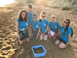 Let's celebrate World Wildlife Day! 🌍  The underlying message of the day is to push for a more caring, thoughtful and sustainable relationship with nature. 🙏   Our volunteers always do an eggcellent job in living and breathing this message. Here is a throwback to some of our volunteers relocating eggs in Lixouri from a threatened nest to keep them safe! 🥚🐢   #pmgy #pmgygreece #pmgywildlife #worldwildlifeday