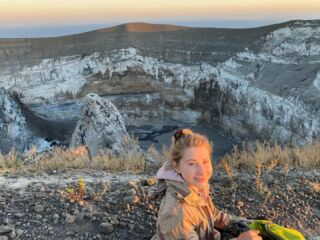 dawn on the mountain of god  humbled by this incredible volcano hike