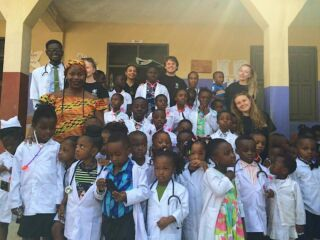 Career's Day! Featuring the future doctors of Ghana 🇬🇭 #pmgyghana #pmgymedical #pmgyteaching
