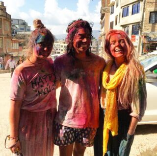 "Meet Kyla, who volunteered with PMGY in seven destinations in seven months. ✈️ . You could join us too for Holi Festival 2019, a week where the whole country gets drenched in colour! 🎨 . Holi is a Hindu celebration, where families and friends get together but also the streets are filled with flying ""lolas"" - water balloons and rainbow dust! 🌈 . 📸: kylaklintworth . #pmgynepal #pmgychildcare #pmgyadventures #pmgyexperience #pmgycommunity planmygapyear . #volunteernepal #holifestival #pokhara #kathmandu #chitwan #travelgram #tefl #travelblogger #instatravel #explorenepal"