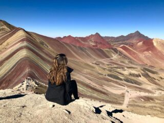 • Rainbow Mountain • Peru •  Another hike to one of the most stunning views I've ever seen. We reached 5,200 meters, just 100 meters off of Everest base camp. • • • • • #rainbowmountain #Rainbowmountainview #rainbowmountains #mountains #mineralmountain #montanadesietecolores #montana #nature #vinicunca #cusco #andes #instatravel #hiking #walking #views #Peru #pmgy #pmgyperu #southamerica #travel #travelblog #travelling #southamerica