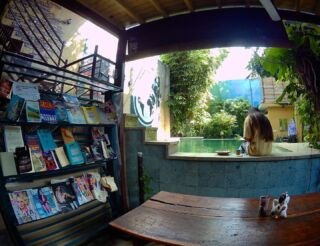Time to grab a book or have a dip in the pool to cool off after a busy day volunteering! 📚🏊🏽‍♀️ . 📸: @emmagover3 . @planmygapyear #pmgybali #pmgy #volunteerabroad #explorebali #volunteerinbali