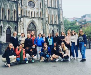 We love exploring Hanoi during orientation! 🇻🇳 . St Joseph's Cathedral (pictured) is only one of the amazing stops we make in Hanoi across your first weekend in Vietnam 🤩 . #pmgy #planmygapyear #pmgyvietnam . #hanoi #explore #travel #vietnam #volunteer #adventure